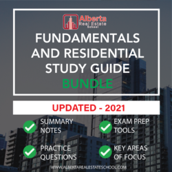 Extensive study guide for Fundamentals of Real Estate and Residential Real Estate Tutoring in Alberta.