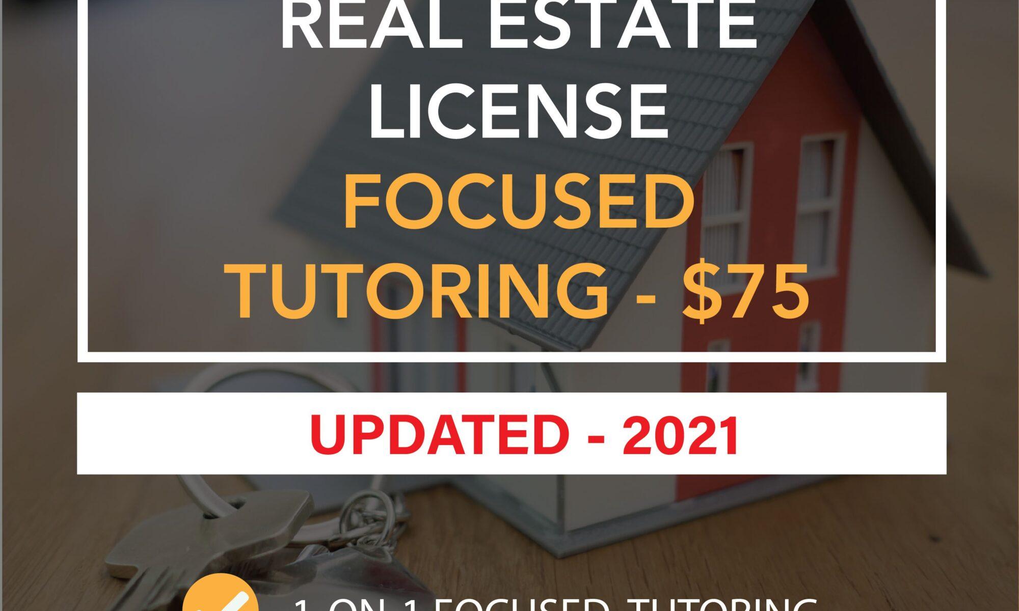 Real Estate License Focused Tutoring