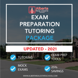 A package offering Alberta Real Estate Exam Preparation Study.