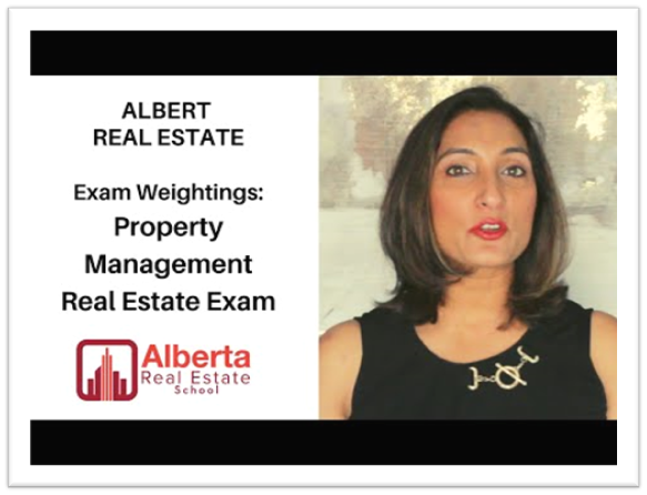 Raman Gakhal, Instructor of Alberta Real Estate School discusses the Exam weightage given by RECA in the Alberta Real Estate Exam to Property Management